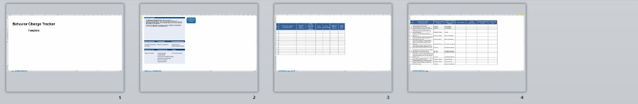 Behavior Change Tracker Template | Organizational Change Management Methodology by Changemethod