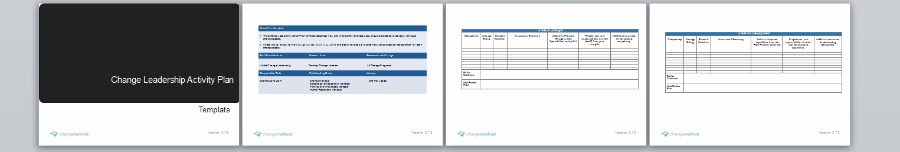 Change Leadership Activity Plan Template | Organizational Change Management Methodology by Changemethod