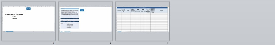 Organization Transition Plan Template | Organizational Change Management Methodology by Changemethod
