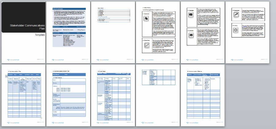 change management communication template - stakeholder communication plan change management methodology