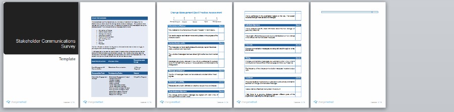 Stakeholder Communication Survey Template | Organizational Change Management Methodology by Changemethod